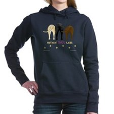 Cute Labradors Women's Hooded Sweatshirt