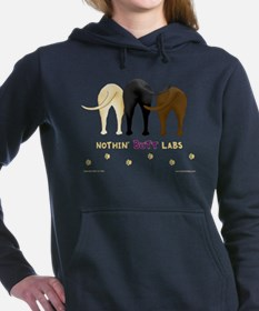 Funny Labrador black Women's Hooded Sweatshirt