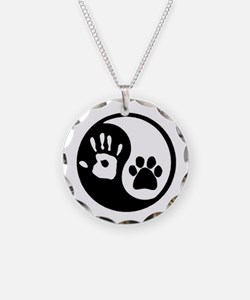 Yin Yang Hand & Paw Necklace