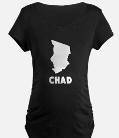 Chad Silhouette Maternity T-Shirt
