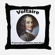 Voltaire Laws Throw Pillow