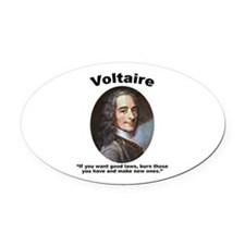 Voltaire Laws Oval Car Magnet