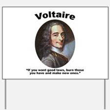 Voltaire Laws Yard Sign