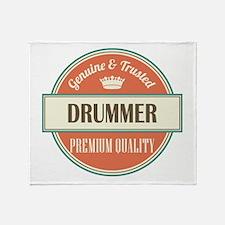 drummer vintage logo Throw Blanket