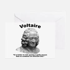 Voltaire Innocent Greeting Card