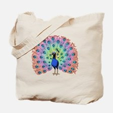 Colorful Peacock Tote Bag