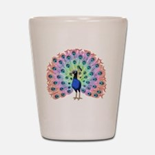 Colorful Peacock Shot Glass