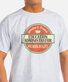 education administrator vintage logo T-Shirt