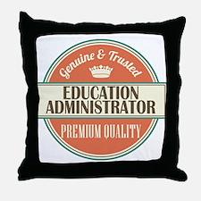 education administrator vintage logo Throw Pillow