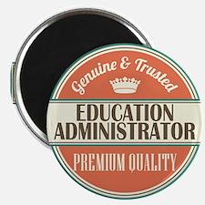 education administrator vintage logo Magnet