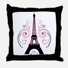 Eiffel Tower Gradient Swirl Design Throw Pillow