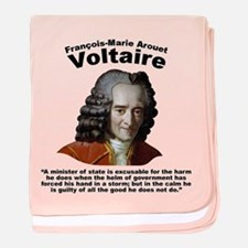 Voltaire Excusable baby blanket