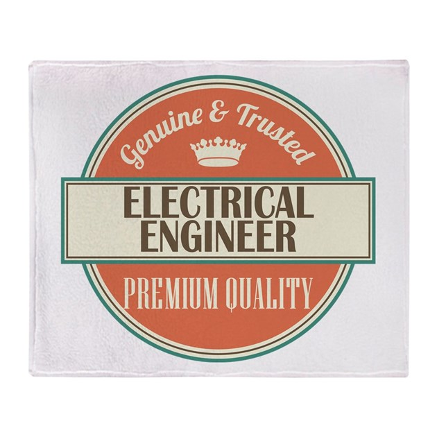electrical engineer vintage logo Throw Blanket by ...