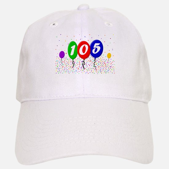 105th Birthday Baseball Baseball Cap