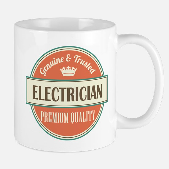 electrician vintage logo Mug