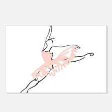 Pretty Pink Ballerina Postcards (Package of 8)