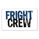 Fright Crew Halloween Rectangle Sticker