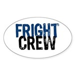 Fright Crew Halloween Oval Sticker
