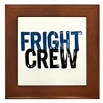 Fright Crew Halloween Framed Tile