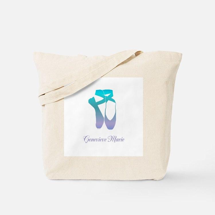 Team Pointe Ballet Ocean Personalize Tote Bag