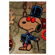 Snoopy - Steampunk Wall Art Poster