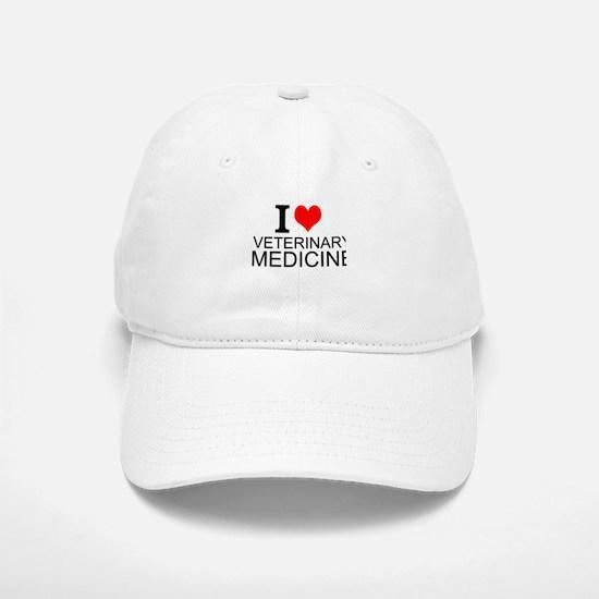 I Love Veterinary Medicine Baseball Baseball Baseball Cap