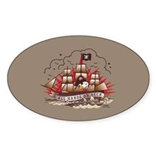 Peanuts All Hands on Deck Sticker (Oval)