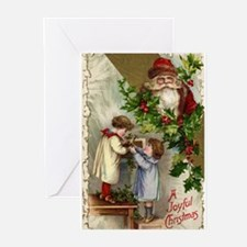 Cute Antique vintage christmas Greeting Cards (Pk of 10)