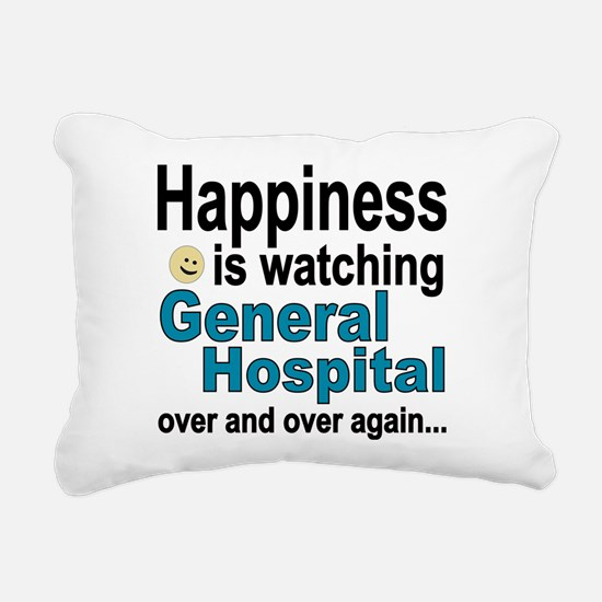 Happiness Is Watching Ge Rectangular Canvas Pillow
