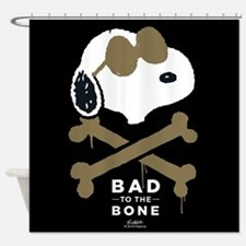 Peanuts Bad to the Bone Shower Curtain