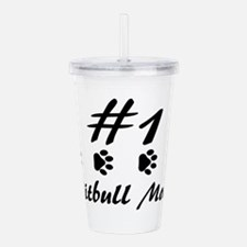 Number 1 Pitbull Mom Acrylic Double-wall Tumbler