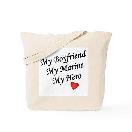 My Boyfriend My Marine My Hero Tote Bag