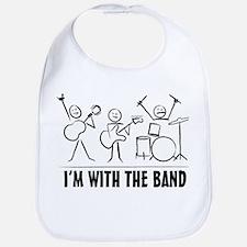 Funny Music band Bib