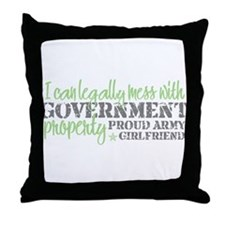 Unique Army girlfriend Throw Pillow