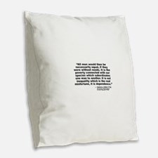 Voltaire Equality Burlap Throw Pillow