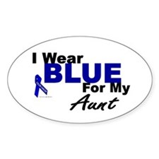 I Wear Blue 3 (Aunt CC) Oval Decal