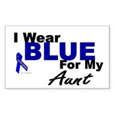 I Wear Blue 3 (Aunt CC) Rectangle Decal