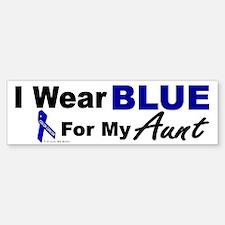 I Wear Blue 3 (Aunt CC) Bumper Bumper Bumper Sticker