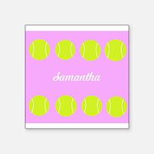 Pink Tennis Ball Sticker