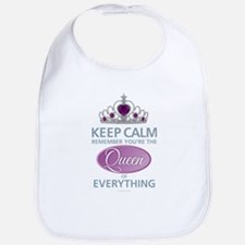 Keep Calm - Queen Bib
