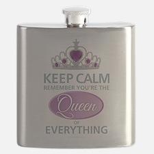Keep Calm - Queen Flask