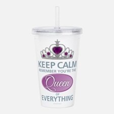 Keep Calm - Queen Acrylic Double-wall Tumbler