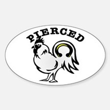 Pierced Cock (Rooster) Oval Decal