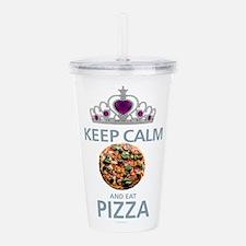 Keep Calm - Pizza Acrylic Double-wall Tumbler