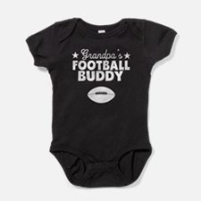 Grandpa's Football Buddy Baby Bodysuit