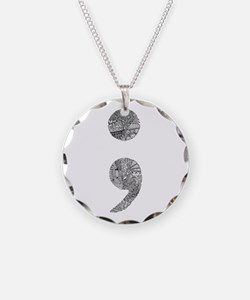 Patterned Semicolon #2 Necklace