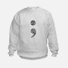 Patterned Semicolon #2 Sweatshirt