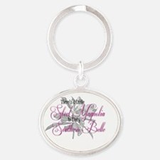 Unique Flower girl Oval Keychain