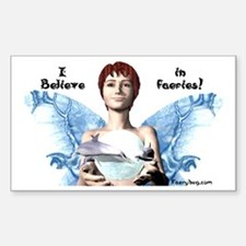 I believe in Faeries! Rectangle Decal
