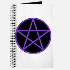 Purple/Black Pentagram Journal